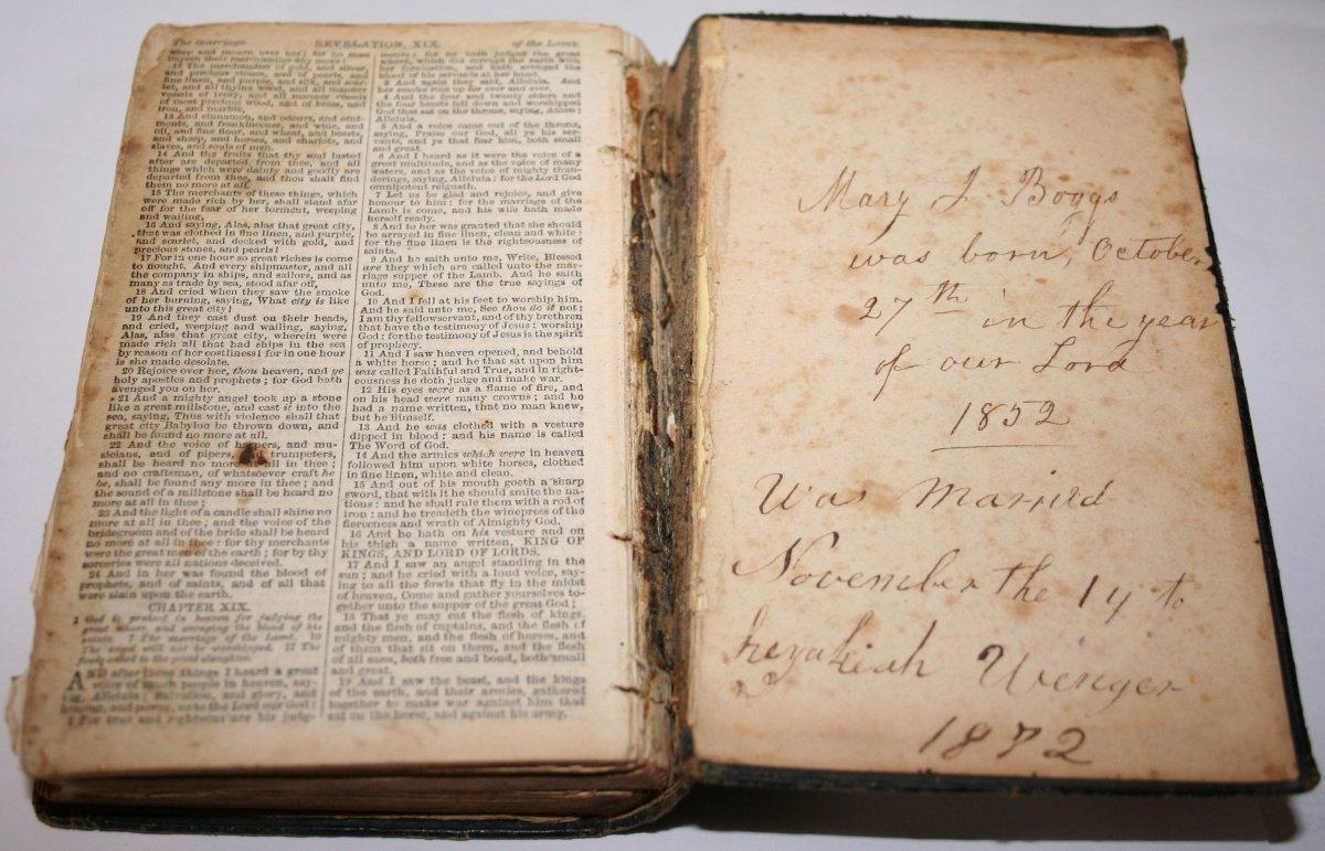 kaiser family history photos mary jane boggs u0027 bible
